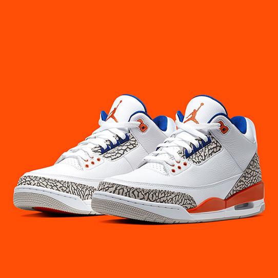 Air Jordan 3 'White/Orange' | iSneaker.eu