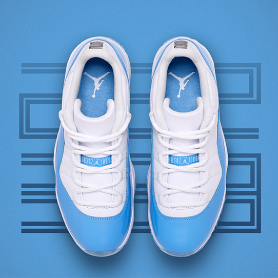 "Air Jordan 11 Retro Low ""University Blue"""