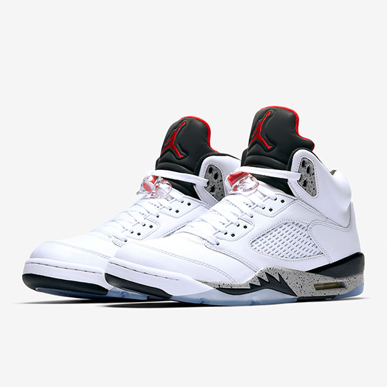 Air Jordan 5 Retro 'White & University Red'