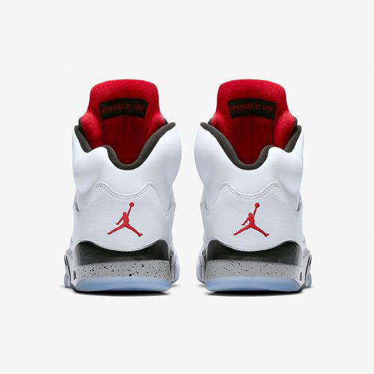 Air Jordan 5 Retro 'White & University Red'