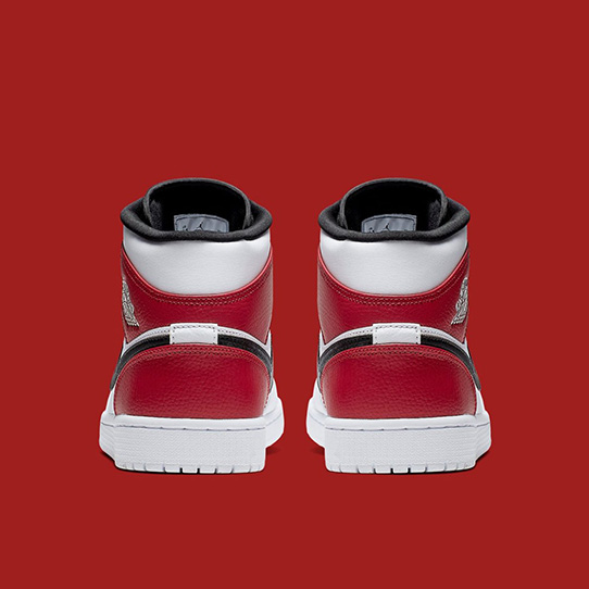 Air Jordan 1 Mid 'White Red Black'