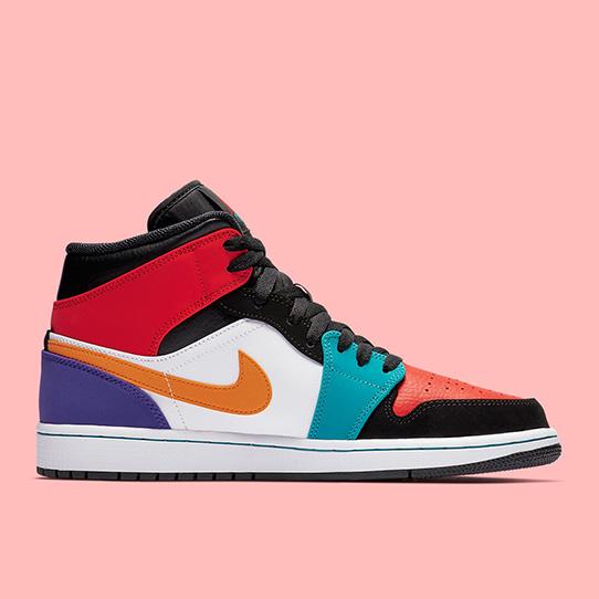 """Air Jordan 1 Mid """"Multi-Color"""""""