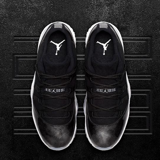 """The Air Jordan XI Low  """"Metallic Black"""""""