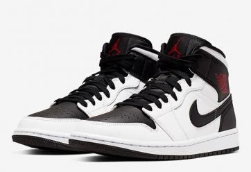 """Air Jordan 1 Mid """"Reverse Black Toe"""""""