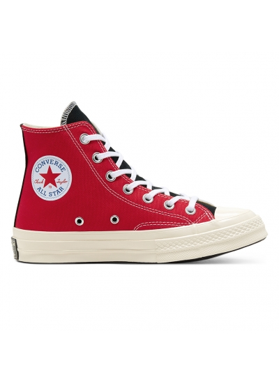 Converse Chuck 70 Hi Logo Play White University Red