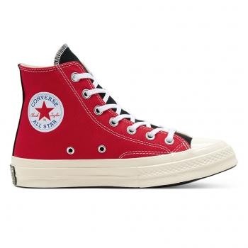 Converse Chuck 70 Hi Logo Play White University Red